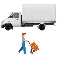 költöztető teherautó rakodóval